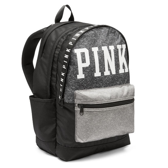 739a23b2123d Victoria s Secret PINK Campus Backpack- Gray Black.  M 5ab4073f739d48e885375f64